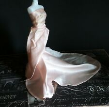 Tagged Barbie by Mattel Pink Satin Ball Flowing Gown for Barbie Dolls