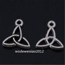 30pc Tibetan Silver flower Charms Beads Pendant Accessories wholesale JP918