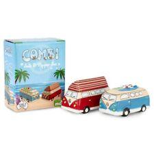 Ng280 Combi Kombi Surf Camper Vintage Retro Ceramic Salt & Pepper Shakers Set