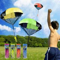 Kids Children Tangle Free Toy Hand Throwing Parachute Kite Outdoor Play Game DE