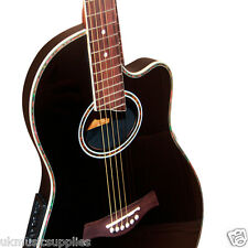 COBAN ELECTRO 4eq NOIR BRILLANT roundbacked guitare luxueux 20mm Gig Sac paquet