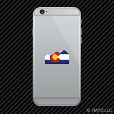 Colorado State Flag Rocky Mountains CO mountain mt Cell Phone Sticker Mobile