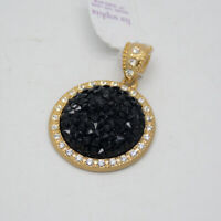 lia sophia jewelry black acrylic stone cut crystals rhinestone necklace pendant