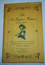 Fashion booklet vintage New England 1800s Costume silks satins Glossary Corsets