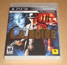 L.A. Noire Sony Playstation 3 PS3 Complete Rockstar Games