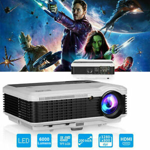 6000lumen Heimkino Beamer Projektor Full HD Videospiele Xbox Laptop HDMI USB VGA