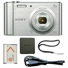 Sony Cyber-shot DSC-W800 20.1MP Compact Camera - Silver