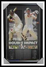 """Michael Clarke & Ricky Ponting Signed """"Double Impact"""" ACB Print Framed RRP $795"""