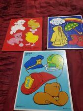 Lot of 3 Playskool Preschool Puzzles