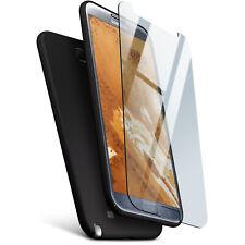 Case + Panzer Folie Glas Folie für Samsung Galaxy Note 2 Hülle Glas Panzerfolie