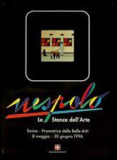 NESPOLO LE STANZE DELL'ARTE poster manifesto Torino Promotrice Belle Arti C8