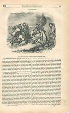 La Mort du général Wolfe bataille de Québec de Benjamin West GRAVURE PRINT 1838
