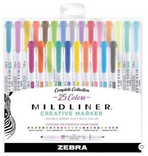 Zebra Mildliner Double Ended Markers, 25-pk Complete Collection