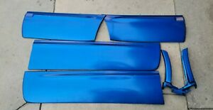 03-05 Subaru Forester XT DOOR MOULDING OEM SET WORLD RALLY BLUE