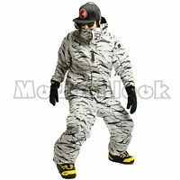Mens SOUTHPLAY Winter Premium White Camo Military Ski-Snowboard Jacket Or Pants