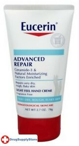 BL Eucerin Creme Advanced Repair Hand 2.7 oz Tube - Two PACK