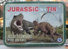 Westminster Jurassic in a Tin - Dinosaur Toys with Vehicle