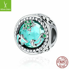 2017Authentic 925 Sterling Mystery Ocean Pave CZ Beads fit Original silver Chain