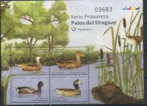 Uruguay 2018 Fauna, Birds, Ducks MNH**