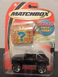 2004 Matchbox Land Rover SVX #52 Black Jeep Die-Cast Metal Car
