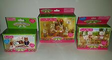 Calico Critters Sylvanian Families Country Dining Room & Patio Set Bunk Beds Lot