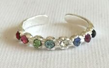Sterling Silver (925) Adjustable  Coloured  Jewels  Toe  Ring  !!         New !!
