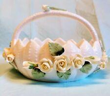 Bone China Handled Basket Seymour Mann vtg