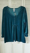 Only Necessities size 3X teal long sleeve top
