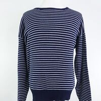 POLO RALPH LAUREN LONG SLEEVE BLUE STRIPED COTTON PULLOVER SWEATER MENS SIZE XL