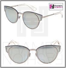 ebaf7c285f CHRISTIAN DIOR SCULPT Palladium Silver Mirrored Cat Eye Metal Sunglasses  Women