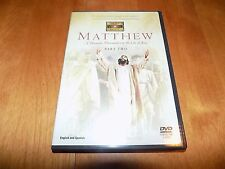 MATTHEW A Dramatic Presentation of the Life of Jesus PART TWO The Visual Bible