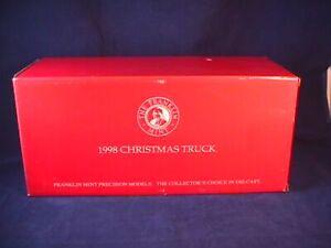FRANKLIN MINT 1955 CHEVROLET 1998 CHRISTMAS TRUCK LE. 1:24 SCALE DIE CAST MIB