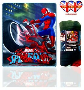 Spiderman Blanket  Soft Touch Fluffy Coral Fleece ,Official Licenced