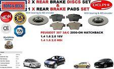 für Peugeot 307 Fließheck 2000- 249mm Bremsscheiben SET HINTEN+Bremsbelagsatz
