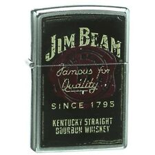 Official Jim Beam Famous for Quality 1795 Chrome Zippo Lighter - Boxed Bourbon