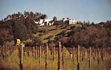 STERLING VINEYARDS Napa Valley, Calistoga, California Winery ca 1960s Postcard