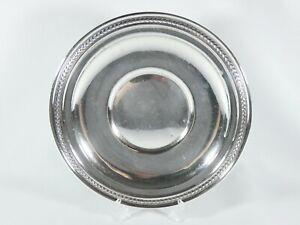 "Antique Vintage American Sterling Silver Large 23cm 9"" Food Serving Plate Dish"