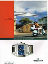 Publicité Advertising 2003 La Montre Candino swiss Watch