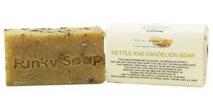 1 piece Nettle and Dandelion Soap Bar 100% Natural Handmade 65g