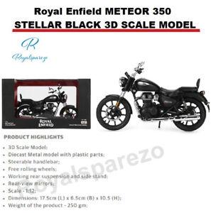 "ROYAL ENFIELD "" Meteor 350 Stellar Nero 3D Scala Modello """