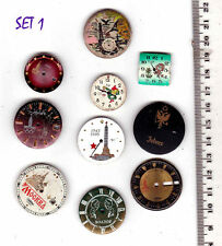 Lot of 10 UNUSUAL with Pictures WATCH DIALS Vintage  Steampunk Art
