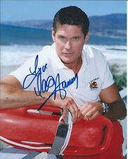 David Hasselhoff Baywatch autographed 8x10 photo with COA by CHA