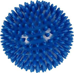 x2 10cm Blue Spikey Massage Ball - Yoga, Stress, Pilates, Reflexology Trigger
