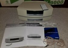 New listing White Bose Wave Music System complete with 3-Cd changer, antenna, Please Read