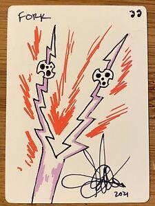 MTG ARTIST Fork Sketch Drawing Blank Card Amy Weber