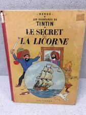 COLLECTION TINTIN HERGE TINTIN LE SECRET E LA LICORNE B35 1964
