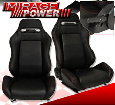 Reclinable Bucket Seats Chairs Jdm Racing Sport Track Slider Black Track Pair Fits Cts V