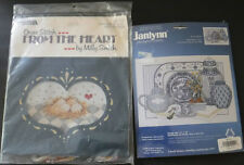 New Lot of 2 Counted Cross Stitch Kit Nest of Eggs & Janlynn Delft Blue China