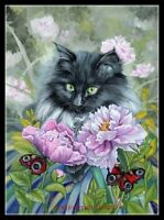 Chart Needlework Crafts DIY - Counted Cross Stitch Kits - Cat and Butterflies 2