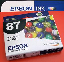 2015! NIB GENUINE EPSON 87 INK_T0871_T087120 Photo Black_Stylus Photo R1900